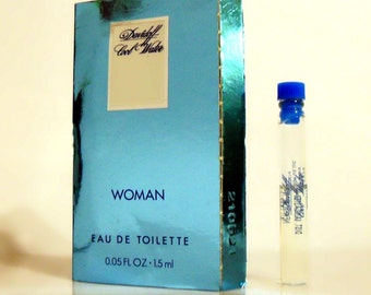 Vintage 1990s Cool Water Woman by Davidoff 0.05 oz Eau de Toilette Sample Vial in Packet PERFUME