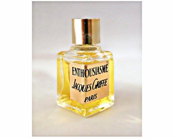 Vintage 1970s Enthousiasme by Jacques Griffe Micro Mini Perfume Miniature Parfum DISCONTINUED