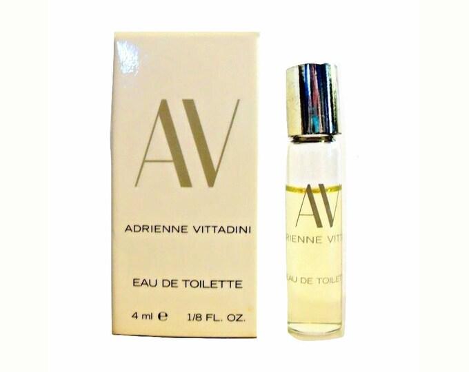 Vintage 1990s AV by Adrienne Vittadini 1/8 oz Eau de Toilette Miniature Mini PERFUME