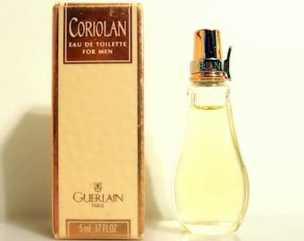Vintage 1990s Coriolan 0.17 oz Eau de Toilette Miniature Mini Cologne and Box
