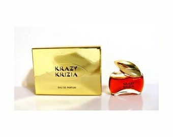 Vintage 1990s Krazy by Krizia 0.20 oz Eau de Parfum Mini Miniature PERFUME