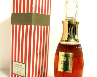 Vintage 1960s -1970s Intimate by Revlon 8 oz Foaming Bath Oil with Box PERFUME