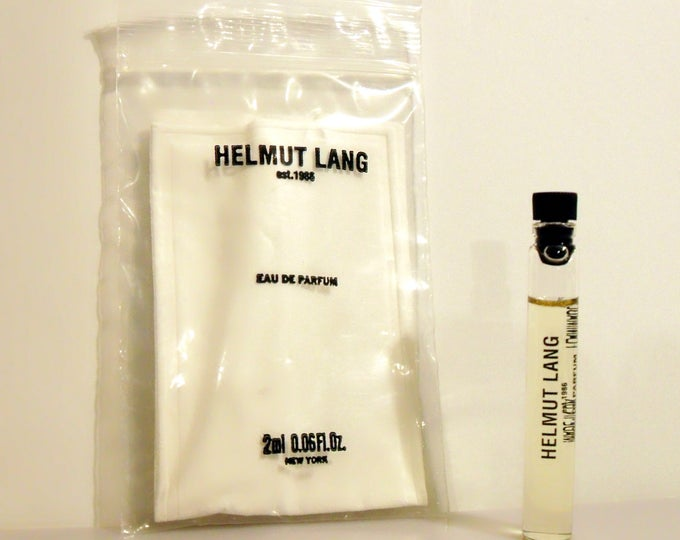 Vintage Helmut Lang 0.06 oz Eau de Cologne Sample Vial on Card PERFUME