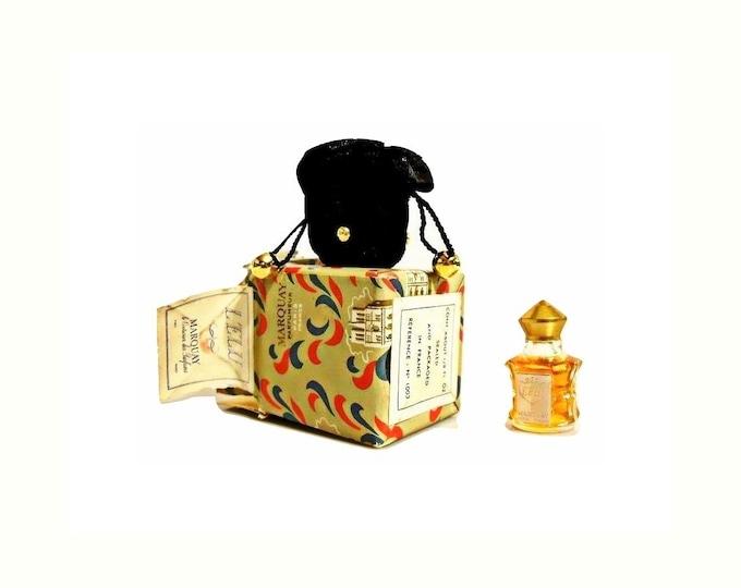 Vintage L'Elu Perfume by Marquay 1/8 oz (4ml) Pure Parfum 1940s Miniature Mini