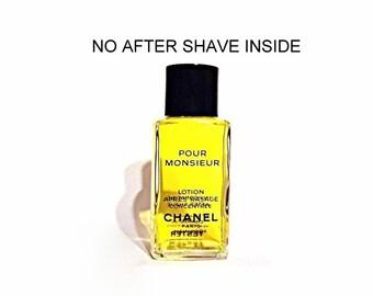 Vintage 1980s Chanel Pour Monsieur 1.7 oz Lotion Apres Rasage Concentree After Shave FACTICE DUMMY COLOGNE