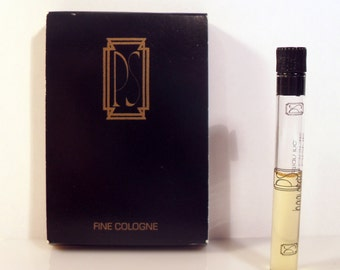 Vintage 1980s PS by Paul Sebastian Fine Cologne Sample Vial on Card PERFUME