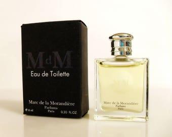 Vintage 1990s M de M (Black) by Marc de la Morandiere 0.20 oz Eau de Toilette Mini Miniature Cologne and Box Original Formula