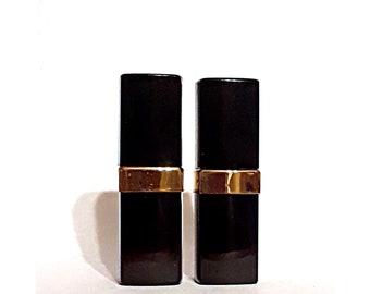 Pair Vintage 1970s Chanel No 5 by Chanel 1/5 oz Parfum Refillable Purse Perfume Flacon Pour le Sac EMPTY Bottles