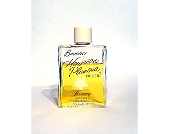 Vintage 1950s Hawaiian Plumeria by Browny Royal Hawaiian Perfume Co. 2 oz (60ml) Cologne Splash Perfume