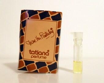Vintage 1970s Tatiana by Diane von Furstenberg Parfum Sample Vial on Card PERFUME