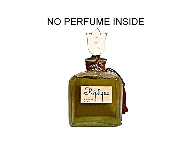 Vintage Perfume 1950s Replique by Raphael 3 oz Parfum FACTICE Dummy Perfume Bottle