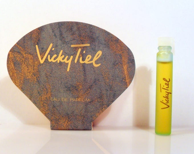 Vintage 1990s Vicky Tiel by Vicky Tiel 0.07 oz Parfum Sample Vial on Card PERFUME