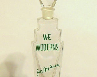Antique Vintage 1920s We Moderns by Saks Fifth Avenue Art Deco Perfume Bottle Skyscraper Shape