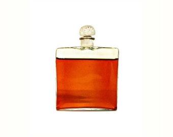 Rare Antique 1920s Fioret Lalique Style Crystal Perfume Bottle by Cristalleries de Nancy