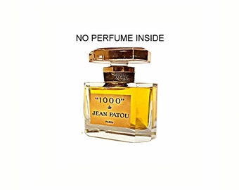 Vintage 1970s 1000 by Jean Patou 1 oz Parfum Heavy Cut Crystal EMPTY Perfume Bottle