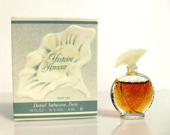 Vintage 1980s Histoire d'Amour by Aubusson 0.14 oz Parfum Mini Miniature and Box PERFUME