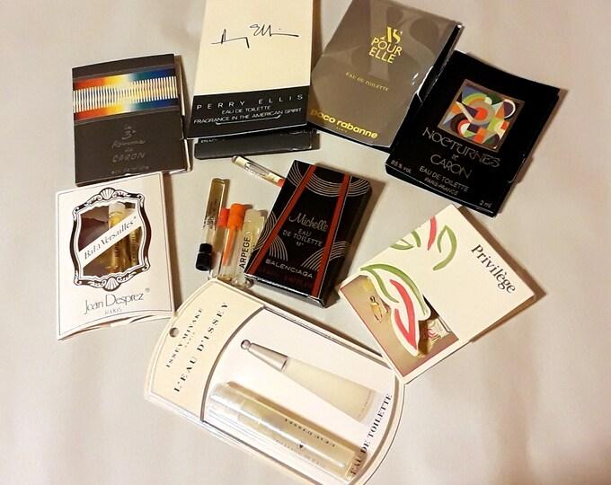 Vintage Perfume Sample Lot of 13 Assorted Brands Men's Women's Fragrance Samples
