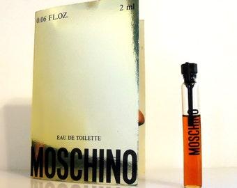 Vintage 1980s Moschino by Moschino 0.06 oz Eau de Toilette Sample Vial on Card PERFUME