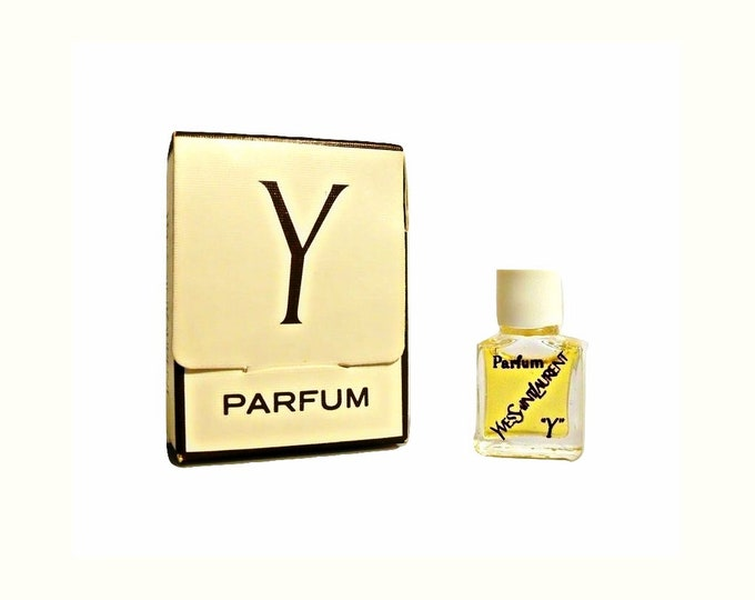 Vintage 1970s Y by Yves Saint Laurent 1/30 oz Pure Parfum Micro Miniature Mini and Box PERFUME