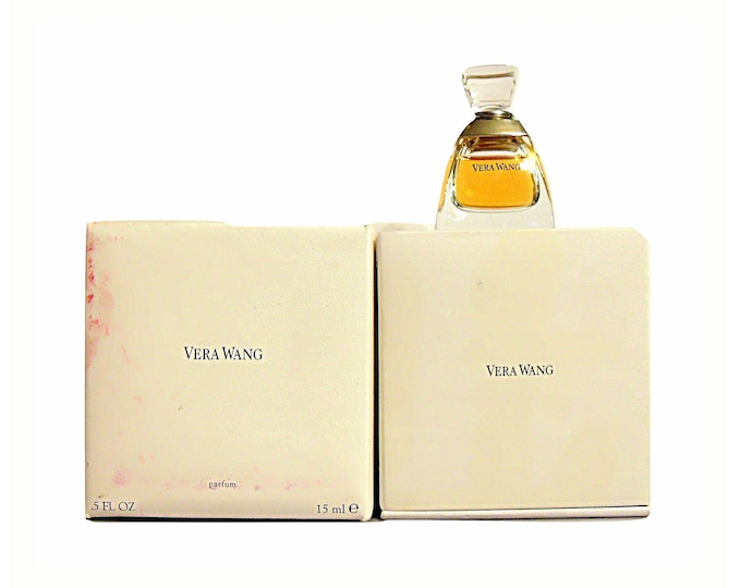 Vintage Vera Wang Perfume by Vera Wang 0.5 oz Pure Parfum Splash Extrait Crystal Perfume Flacon
