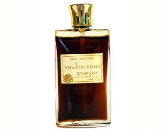 Vintage 1960s Voulez Vous by D'Orsay 0.5 oz (15ml) Skin Essence PERFUME