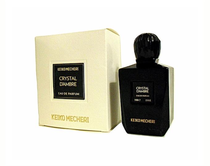 Crystal d'Ambre Perfume by Keiko Mecheri 2.5 oz Eau de Parfum Spray and Box Original Bottle