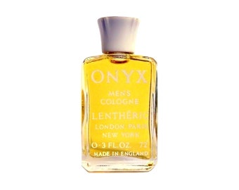 Vintage 1960s Onyx by Lentheric 0.3 oz Cologne Splash Mini Miniature