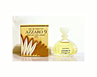 Vintage 1980s Azzaro 9 by Azzaro 0.17 oz Eau de Toilette Mini Miniature and Box PERFUME
