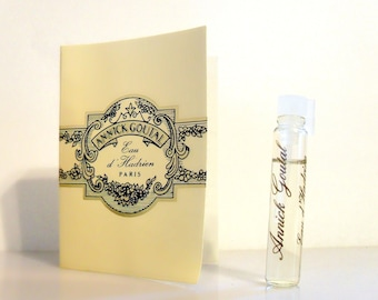 Vintage 1980s Eau d'Hadrien by Annick Goutal 0.07 oz Eau de Toilette Sample Vial on Card PERFUME