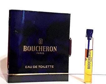 Vintage 1980s Boucheron by Boucheron 0.10 oz Eau de Toilette Sample Vial on Card PERFUME