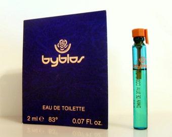 Vintage 1990s Byblos Pour Femme 0.07 oz Eau de Toilette Splash Sample Vial on Card PERFUME