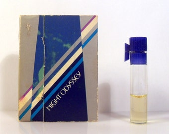 Vintage 1980s Night Odyssey by Avon Sample Vial on Card PERFUME