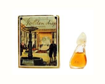 Vintage 1980s Golden Drop by Reichenbach 0.11 oz Eau de Toilette Miniature Mini Bottle and Box PERFUME