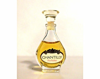 Vintage 1980s Chantilly by Dana 0.25 oz Pure Parfum Mini Miniature Bottle PERFUME