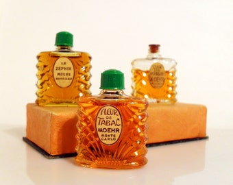 Antique 1930s Moehr Perfume Art Deco Mini Parfum Miniature YOUR CHOICE