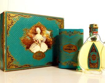 Vintage 1950s Tosca by 4711 0.84 oz Eau de Cologne Splash and Soap Set in Box German PERFUME