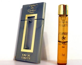 Vintage 1980s Santos de Cartier 0.03 oz Eau de Toilette Sample Vial MEN'S COLOGNE