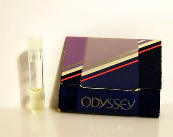Vintage 1980s Odyssey by Avon Cologne Sample Vial on Card PERFUME