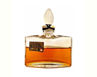 Antique 1920s Ci-Mi by Agra Pure Parfum Art Deco Bottle with Frosted Glass Stopper PERFUME