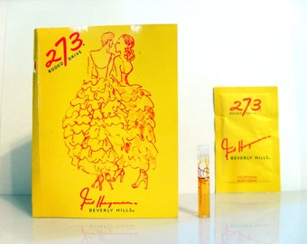 Vintage 1990s 273 Rodeo Drive by Fred Hayman EDP and Body Cream Samples on Card PERFUME