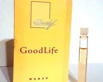 Vintage 1990s Good Life Woman by Davidoff 0.05 oz Eau de Parfum Sample Vial on Card PERFUME