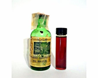 Vintage 1960s 2 Dram (0.25 oz) Bouquet Shampoo Perfume Givaudan Delawanna Perfume Creation Essential Oil Perfumery Making