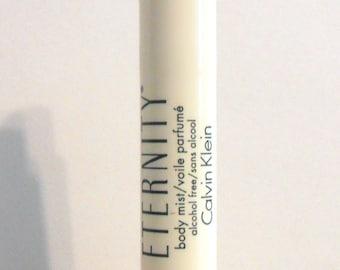 Vintage 1980s Eternity by Calvin Klein Alcohol Free Body Mist Voile Parfume Spray Sample Vial PERFUME