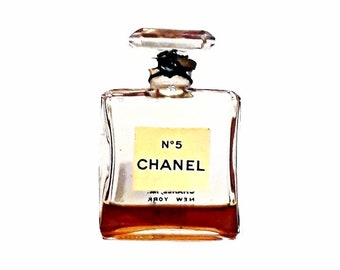 Vintage 1950s Chanel No 5 by Chanel 0.5 oz (15ml) Parfum Splash Mini Perfume Miniature Perfume