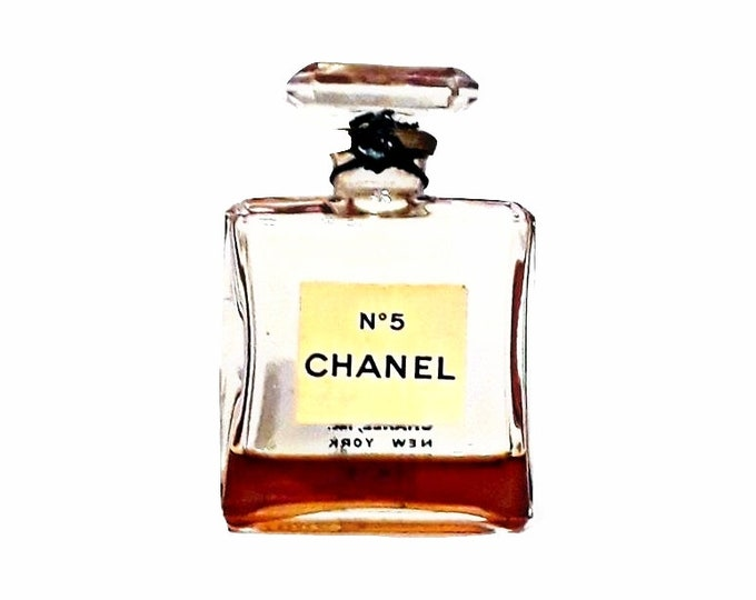Vintage Chanel No 5 Perfume by Chanel 0.5 oz (15ml) Parfum Splash Mini Perfume Miniature 1950s Formula