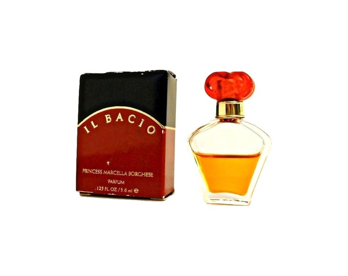 Vintage 1990s Il Bacio by Princess Marcella Borghese 0.125 oz Pure Parfum Miniature Mini PERFUME