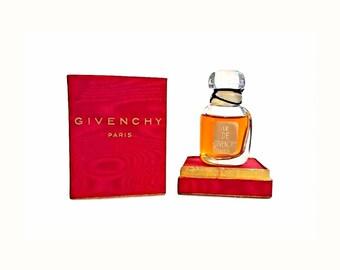 Vintage 1950s Le De de Givenchy 1 oz (30ml) Pure Parfum Splash Perfume & Box Original Formula Crystal Flacon