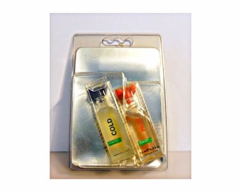 Vintage 1990s Benetton Hot and Cold 0.18 oz Eau de Toilette Mini Perfumes Miniature on Card