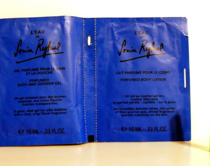 Vintage 1990s L'Eau de Sonia Rykiel EDT, Shower Gel and Body Lotion Sample Packets PERFUME