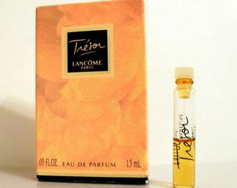 Vintage 1990s Tresor by Lancome 0.05 oz Eau de Parfum Sample Vial in Box PERFUME